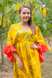 """Pretty Princess"" kaftan in Sunflower Sweet pattern"