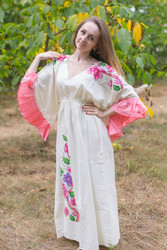 """Pretty Princess"" kaftan in Swirly Floral Vine pattern"