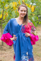"""Pretty Princess"" kaftan in Vibrant Foliage pattern"