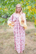 """Pretty Princess"" kaftan in Vintage Chic Floral pattern"