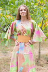 """Beauty, Belt and Beyond"" kaftan in Batik Watercolor pattern"
