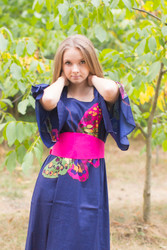 """Beauty, Belt and Beyond"" kaftan in Big Butterfly pattern"
