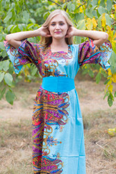 """Beauty, Belt and Beyond"" kaftan in Cheerful Paisleys pattern"