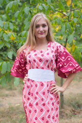 """Beauty, Belt and Beyond"" kaftan in Chevron Dots pattern"