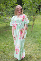 """Unfurl"" kaftan in Cabbage Roses pattern"