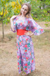 """Beauty, Belt and Beyond"" kaftan in Cute Bows pattern"