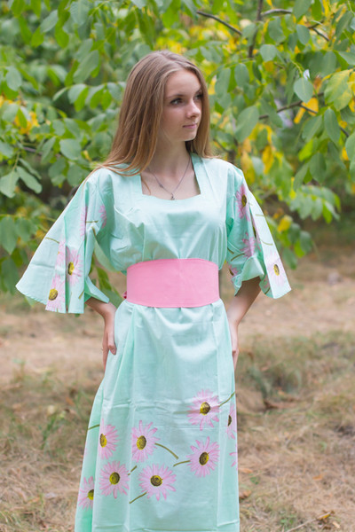"""Beauty, Belt and Beyond"" kaftan in Falling Daisies pattern"