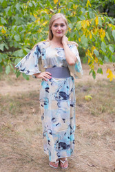"""Beauty, Belt and Beyond"" kaftan in Flamingo Watercolor pattern"