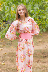 """Beauty, Belt and Beyond"" kaftan in Floral Posy pattern"