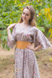 """Beauty, Belt and Beyond"" kaftan in Fun Leopard pattern"