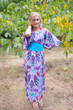 """Beauty, Belt and Beyond"" kaftan in Ikat Aztec pattern"