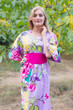 """Beauty, Belt and Beyond"" kaftan in Jungle of Flowers pattern"