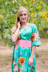 """Beauty, Belt and Beyond"" kaftan in Large Floral Blossom pattern"