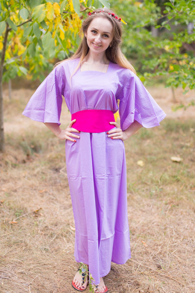 """Beauty, Belt and Beyond"" kaftan in Plain and Simple pattern"