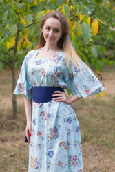 """Beauty, Belt and Beyond"" kaftan in Romantic Florals pattern"