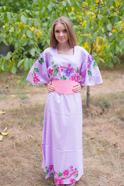 """Beauty, Belt and Beyond"" kaftan in Swirly Floral Vine pattern"