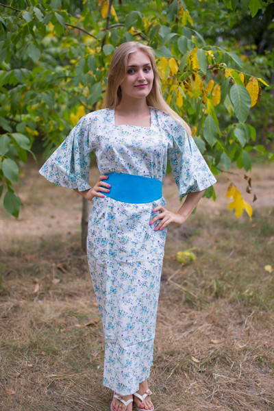 """Beauty, Belt and Beyond"" kaftan in Tiny Blossoms pattern"