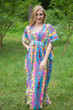 """Unfurl"" kaftan in Diamond Aztec pattern"