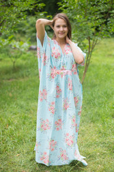 """Unfurl"" kaftan in Faded Flowers pattern"