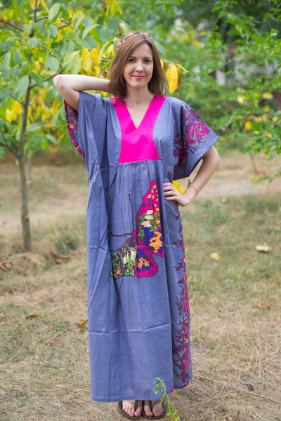 """Flowing River"" kaftan in Big Butterfly pattern"