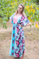 """Flowing River"" kaftan in Butterfly Baby pattern"