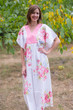 """Flowing River"" kaftan in Cabbage Roses pattern"