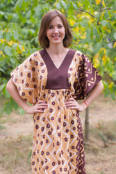 """Flowing River"" kaftan in Chevron Dots pattern"