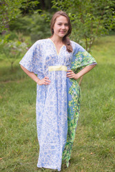 """Unfurl"" kaftan in Falling Leaves pattern"