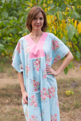 """Flowing River"" kaftan in Faded Flowers pattern"