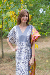 """Flowing River"" kaftan in Falling Leaves pattern"