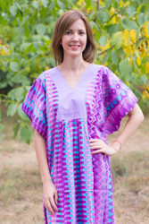 """Flowing River"" kaftan in Geometrica pattern"