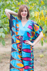 """Flowing River"" kaftan in Glowing Flame pattern"