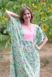 """Flowing River"" kaftan in Happy Flowers pattern"