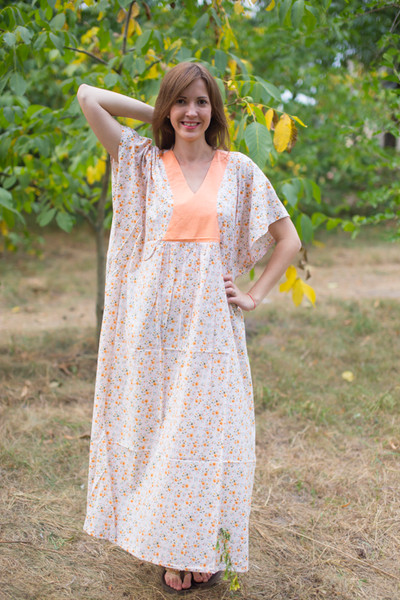 """Flowing River"" kaftan in Starry Florals pattern"