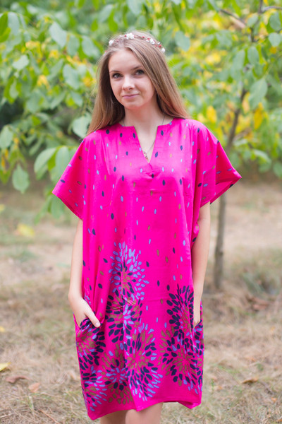 """Sunshine"" Tunic Dress kaftan in Abstract Floral pattern"