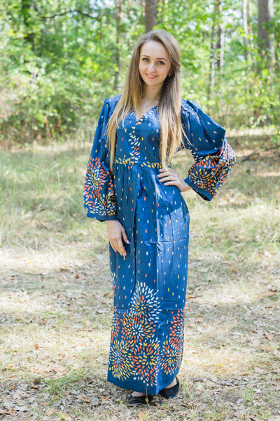 """My Peasant Dress"" kaftan in Abstract Floral pattern"