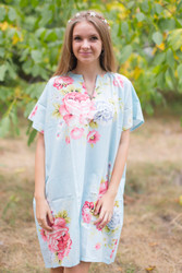 """Sunshine"" Tunic Dress kaftan in Cabbage Roses pattern"