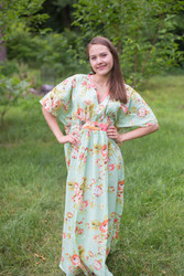 """Unfurl"" kaftan in Flower Rain pattern"