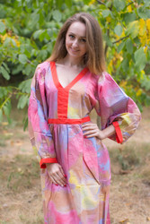 """My Peasant Dress"" kaftan in Batik Watercolor pattern"