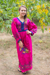 """My Peasant Dress"" kaftan in Big Butterfly pattern"