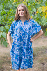 """Sunshine"" Tunic Dress kaftan in Damask pattern"