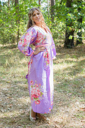 """My Peasant Dress"" kaftan in Cabbage Roses pattern"