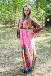 """My Peasant Dress"" kaftan in Cheerful Paisleys pattern"