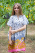 """Sunshine"" Tunic Dress kaftan in Falling Leaves pattern"