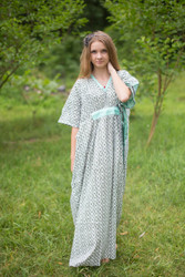 """Unfurl"" kaftan in Geometric Chevron pattern"