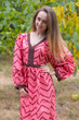 """My Peasant Dress"" kaftan in Chevron pattern"