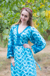 """My Peasant Dress"" kaftan in Chevron Dots pattern"
