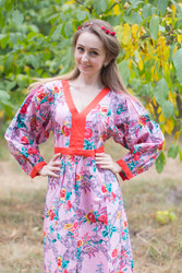 """My Peasant Dress"" kaftan in Cute Bows pattern"