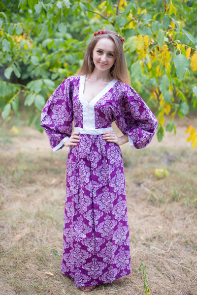 """My Peasant Dress"" kaftan in Damask pattern"