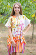 """Sunshine"" Tunic Dress kaftan in Floral Watercolor Painting pattern"
